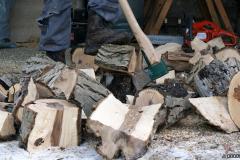 Tűzifa aprítás